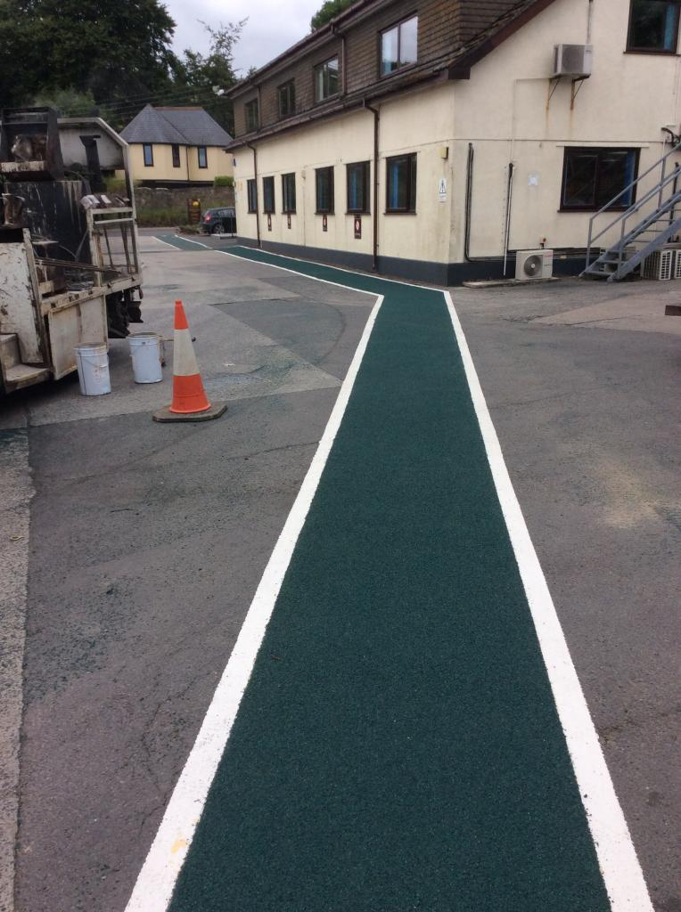 Yard Line Marking in North Tawton, Devon Photo