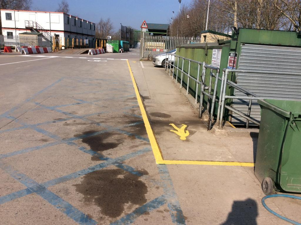 Distribution yard line marking in Shepton Mallet Photo