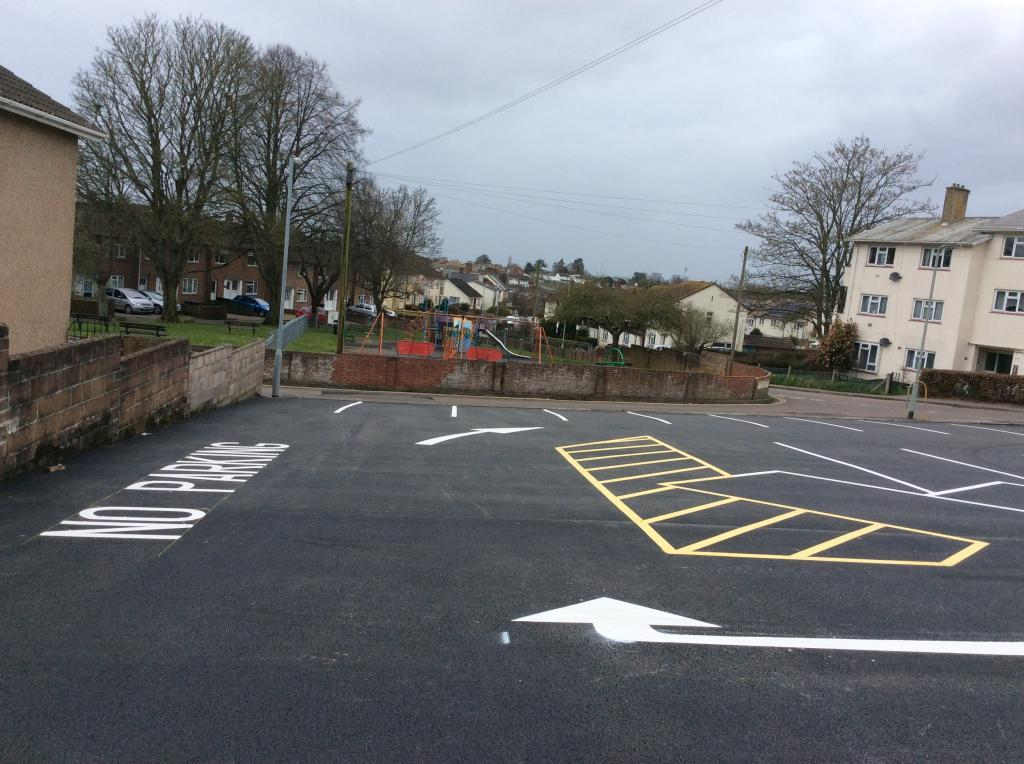 Car Park Marking Honiton Photo