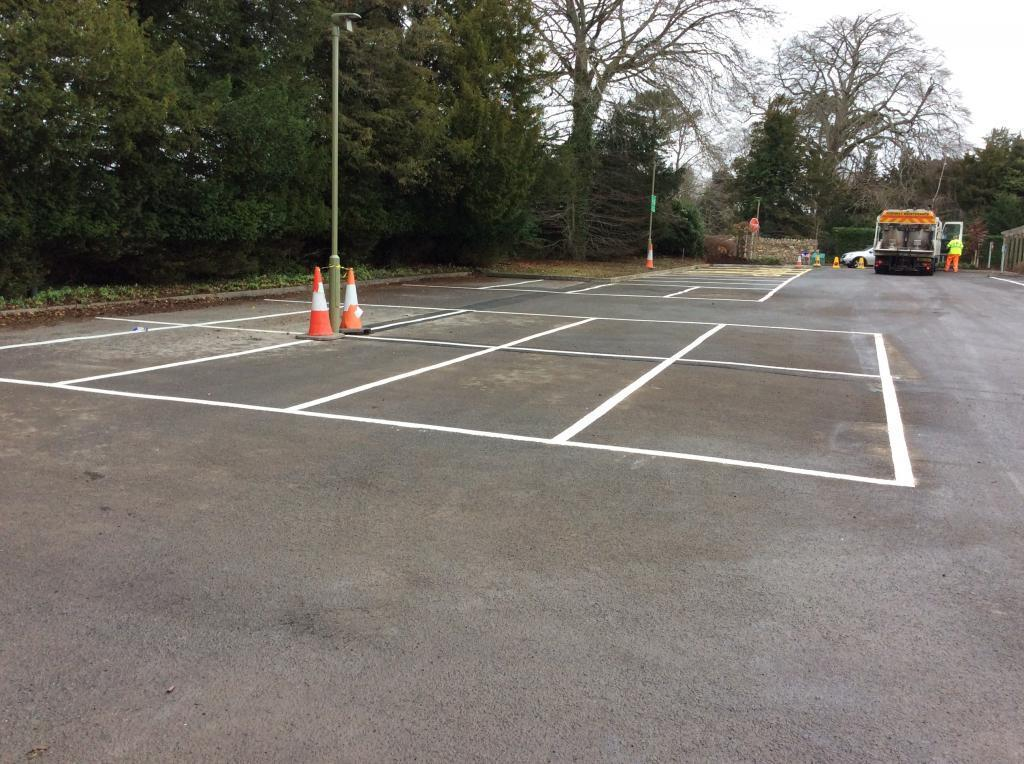 Line Marking in Wiltshire Photo