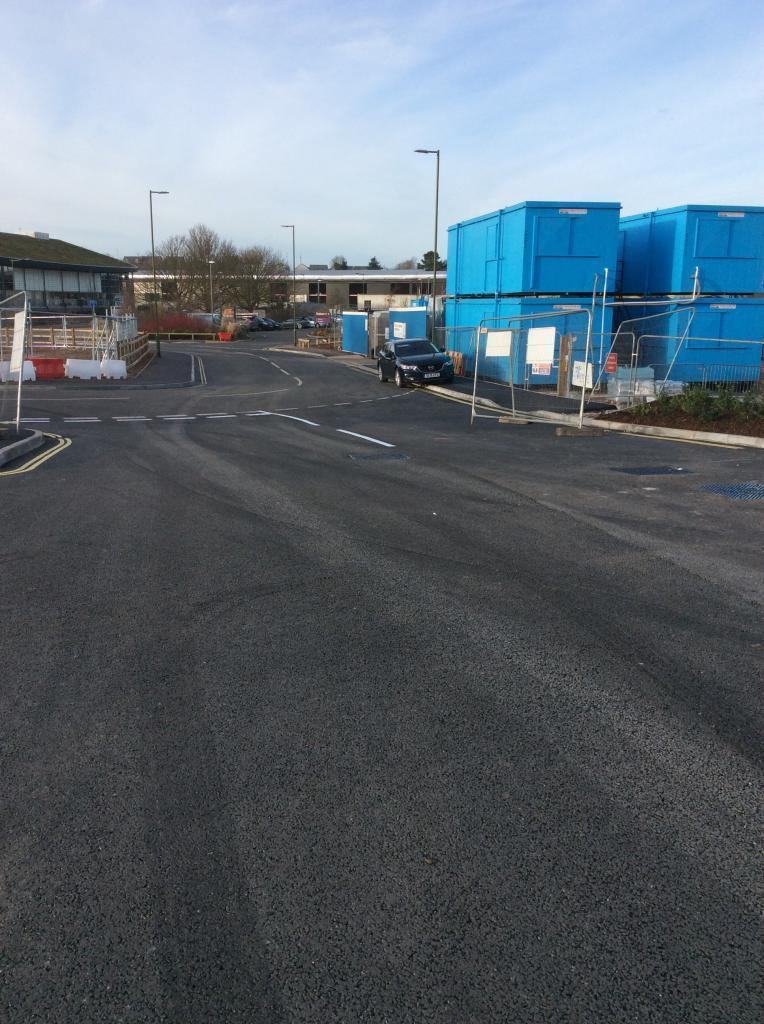 Supermarket Car Park Marking in Paignton Photo