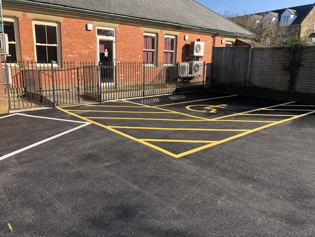 Car Park Line Marking In Taunton (Merriott) Photo