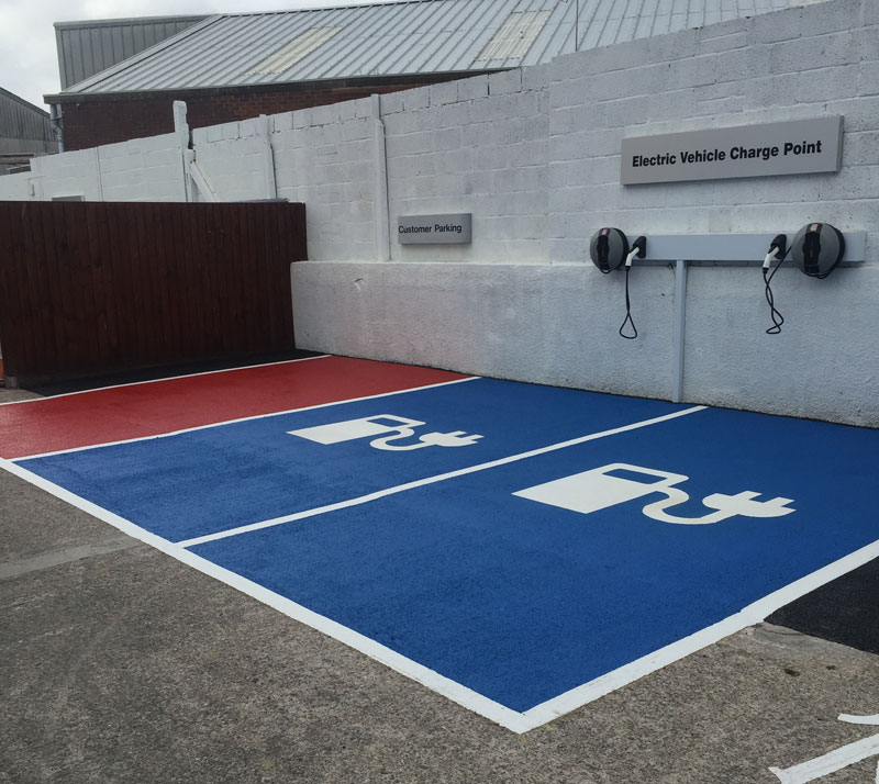 Car park marking recent work photo from Line Marking Services - 01626 331771