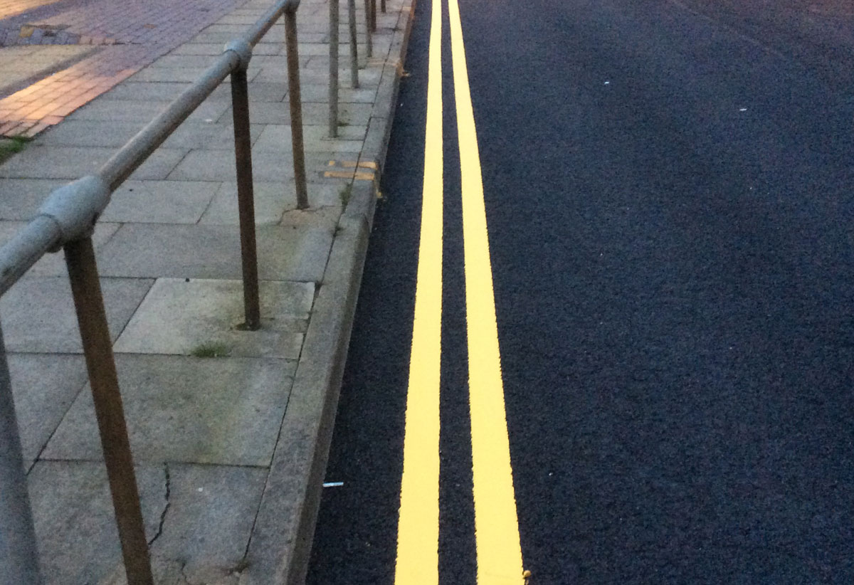 Road marking recent work photo from Line Marking Services - 01626 331771