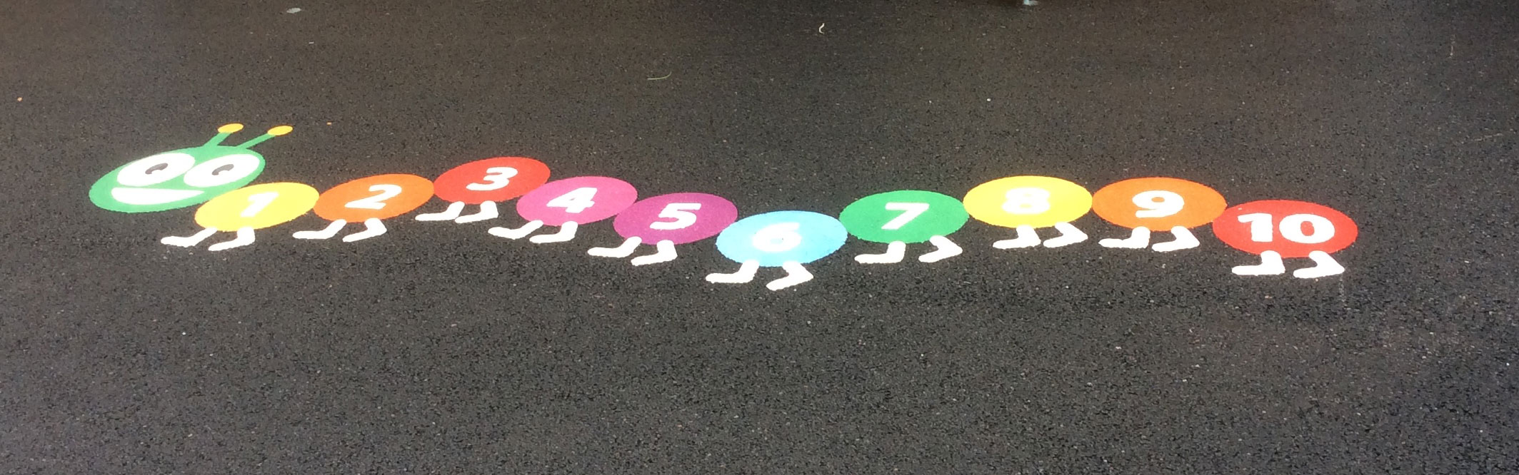 Playground marking recent work photo from Line Marking Services - 01626 331771