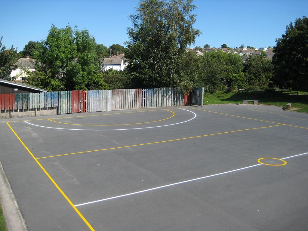 Sports court line marking recent work photo from Line Marking Services - 01626 331771